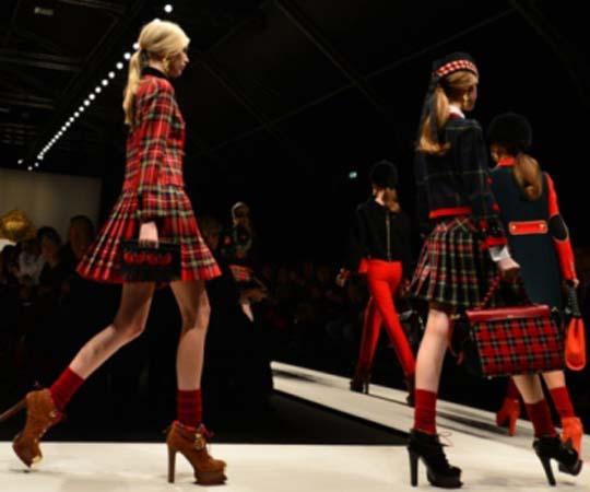 Tartan makes its mark on the catwalk in Milan
